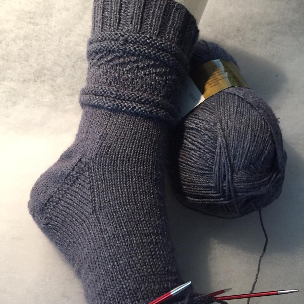 Heringbone Gansey Socks